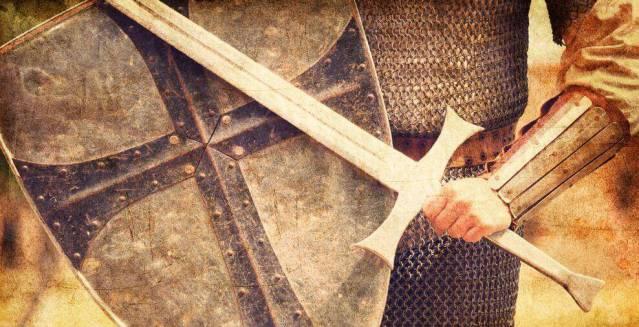 Ritter mit Schwert